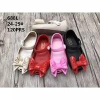 Sepatu Jelly Shoes Anak Import Big Bow - Sepatu bayi anak flat murah