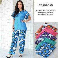 Setelan celana panjang batik / baju tidur wanita / babydoll murah