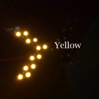 Led Sign Sein Spion Mobil Arrow Panah Yellow SMD14 14 SMD Tanda Panah