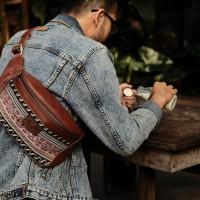 Uray Waistbag Etnik Genuine Leather
