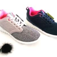 sepatu sneakers olahraga running senam wanita ardiles pompom