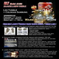 Lampu Natal Hias Warm White and Putih ELT N-104 INDOOR
