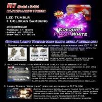 Lampu Natal Hias Pink and White ELT N-104 + Colokan Sambungan