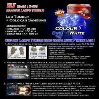 Lampu Natal Hias Biru and Putih ELT N-104 + Colokan Sambungan