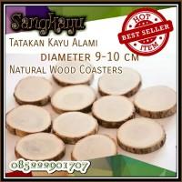 Tatakan kayu alami Natural wood coaster wood slices
