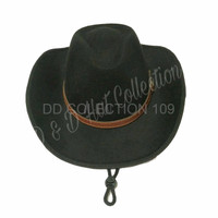 TERLAKU Topi Pria Fedora Cowboy Gesper Kulit Made in D D Production