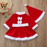 Baju Natal Santa Claus Anak Perempuan / Kostum Natal Santa Klaus Anak