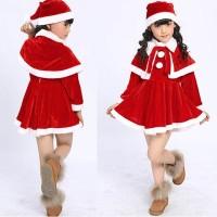 Baju Natal Santa Claus Anak Perempuan / Costume Natal Santa Klaus Anak