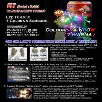Lampu Natal Hias LED TWINKLE/TUMBLR Rainbow 7-8 COLOURS ELT N-104