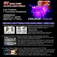 Lampu Natal Hias LED Violet/Ungu