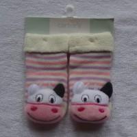 Kaos Kaki boneka Carter motif Sapi ukuran 0-12 bulan