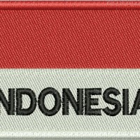 Bendera Merah Putih Bordir + INDONESIA