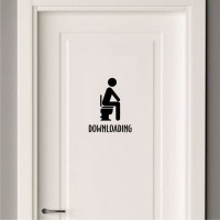 Cutting Sticker / Stiker / Wallsticker Toilet Downloading Kamar Mandi