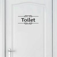 Sticker / Stiker Wallsticker Dinding Pintu Tulisan Toilet Kamar Mandi