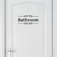 Sticker / Stiker Wallsticker Dinding Pintu Tulisan Bathroom KamarMandi