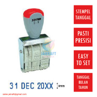 Stempel Tanggal Bulan Tahun 1 Warna JOYKO Kenko D-3 Dater Stamp