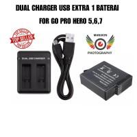 DUAL CHARGER GO PRO USB EXTRA 1 BAETRAI FOR GO PRO HERO 5,6,7