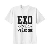 Kaos Baju Tshirt Kpop Korea Anak EXO We Are One Combed 20s Putih