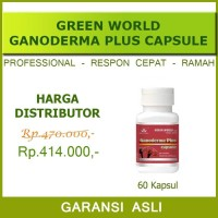 Ganoderma Plus Capsule Green World/Obat asam elergi/Insomnia/Kanker
