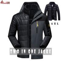 Jual murah UNCO&BOROR new winter women men`s jacket outwear 2 in 1
