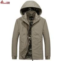 Jual murah UNCO&BOROR plus size M~6XL Jacket 2018 Autumn Mens Hood