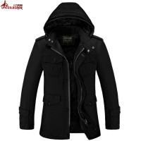 Jual murah UNCO&BOROR new Winter Men Jacket Thick Casual Cotton Ja