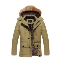 Jual murah 2017 New Winter Jacket Men Warm Coats Fashion Casual Pa