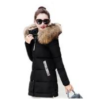Jual murah 2017 New winter jacket coat warm Long women parka artif