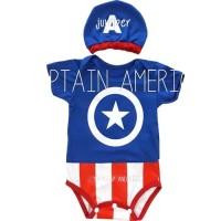 Baju Bayi Laki Laki Jumper Lucu Karakter Bayi - Captain America New