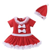 CHRISTMAS costume dress red white santa kostum natal anak girl 3