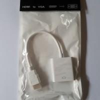 Converter HDMI To VGA / Konektor HDMI To VGA Proyektor / Monitor -