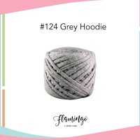 Benang Rajut Flamingo Tshirt Yarn No #124 Grey Hoodie