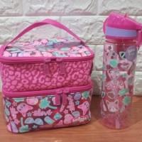 lunchbox smiggle double decker-set lunchbox dan botol air smiggle