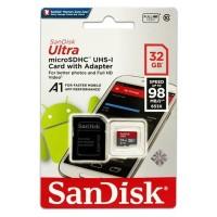 MICRO SD SANDISK 32GB ULTRA 98MB/S - MICROSD 32GB 98 MBPS