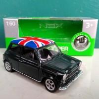 Diecast miniatur Mini Cooper 1300 mobil klasik Welly Nex Indonesia