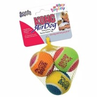 Mainan Anjing /Kong Squeak Air Balls Birthday Medium AST2Y