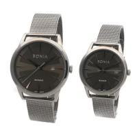 jam tangan couple bonia rosso grey Stainless steel