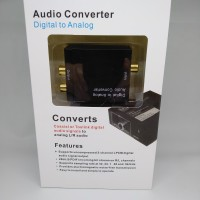 Digital to Analog Audio Converter Coaxial / Toslink to Analog / RCA