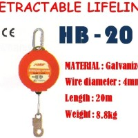 RETRACTABLE LIFELINE HB-20 20M merk HARU /BODY HARNESS/SABUK PENGAMAN