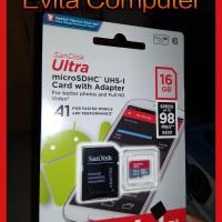 SanDisk Ultra 16GB MicroSDHC UHS A1 Class 10 Original