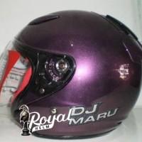 helm kyt dj maru solid deep purple / ungu size m dan l