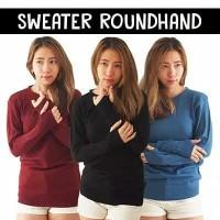 Sweater Wanita Baju Rajut Modis Cewek Roundhand Sweater Cewe