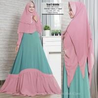 Baju Muslim Gamis Wanita Syari Pesta Full Ceruty Import Gracia Terbaru