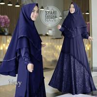 Baju Muslim Gamis Wanita Syari Pesta Mosscrepe Brukat Faridah Terbaru