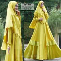 Baju Muslim Gamis Wanita Syari Pesta Valentino Mosscrepe Alaka Terbaru