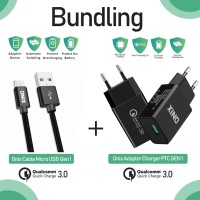 Bundling - Onix Adaptor Charger PTC-01 + PTC Gen 1 Micro Cable Usb