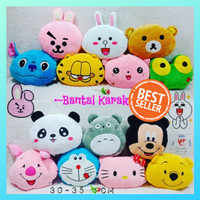 bantal karakter doraemon hellokitty rilakuma garfield