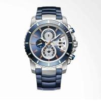 Alexandre Christie Blue Ice Chronograph Blue Dial Jam Tangan Pria - Bl