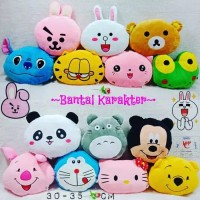 bantal boneka karakter doraemon totoru hello kitty