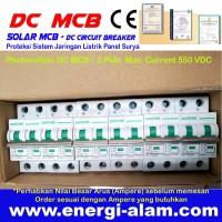 16A 2 Pole 550V DC PV MCB Solar Mini Circuit Breaker PV Panel Surya
